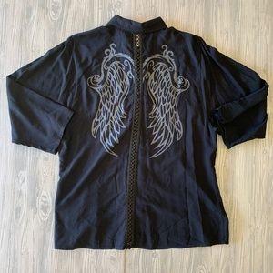 Harley-Davidson Women's L Motorcycle Shirt Wings